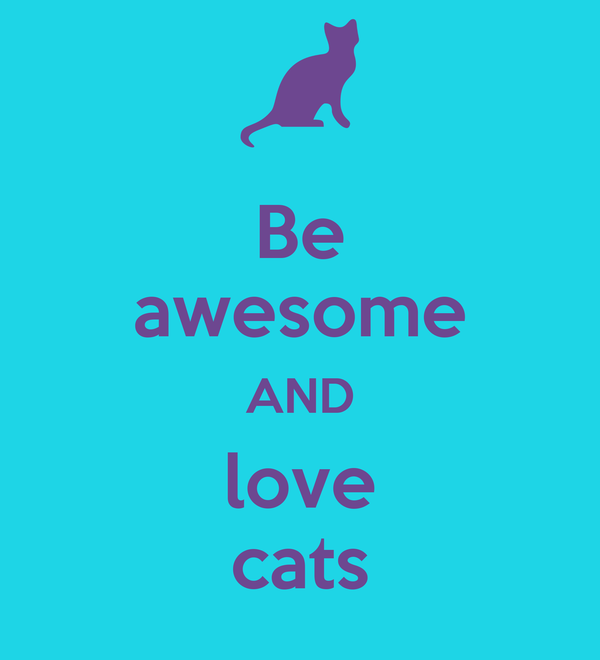 Be awesome AND love cats