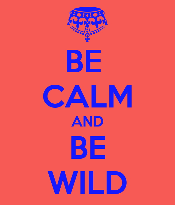 BE  CALM AND BE WILD