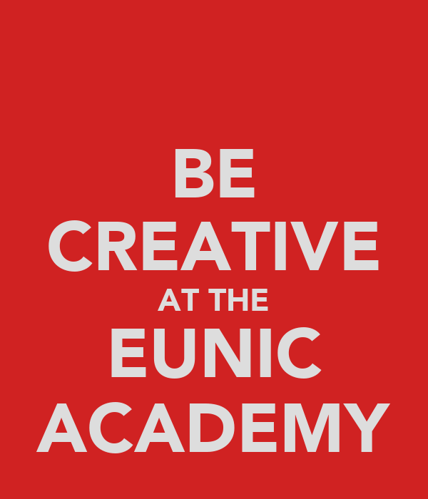 BE CREATIVE AT THE EUNIC ACADEMY