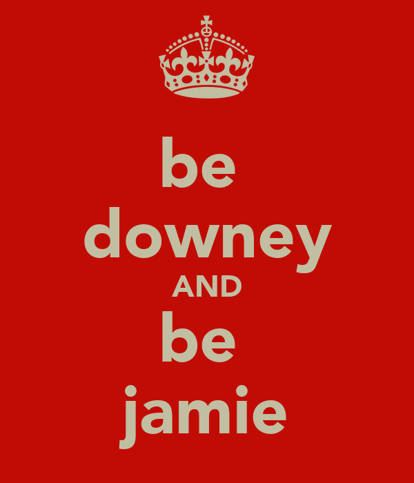 be  downey AND be  jamie