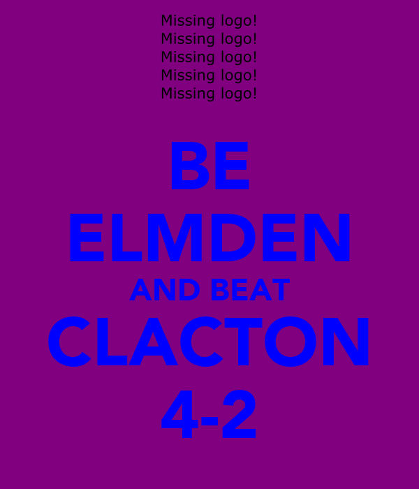 BE ELMDEN AND BEAT CLACTON 4-2