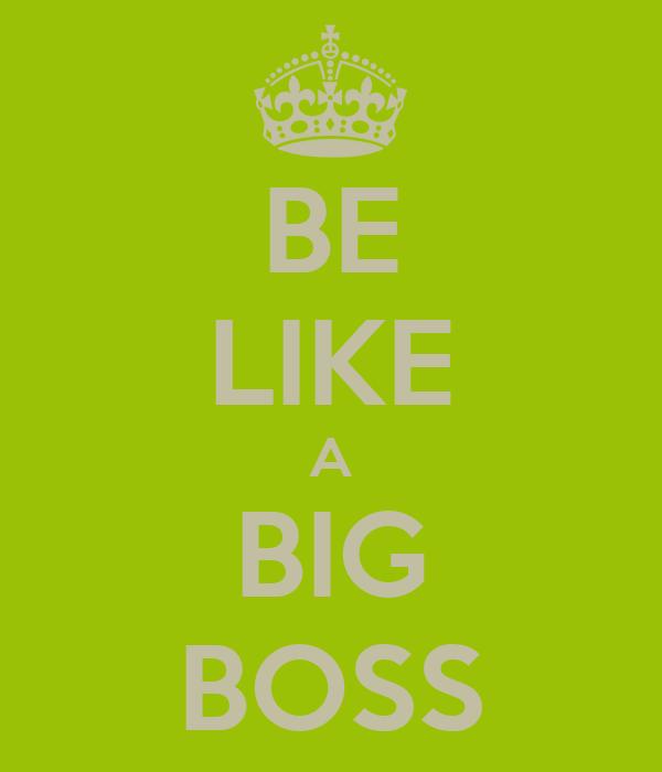 BE LIKE A BIG BOSS