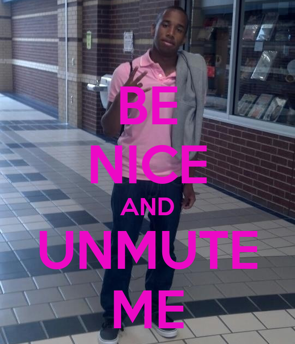 BE NICE AND UNMUTE ME