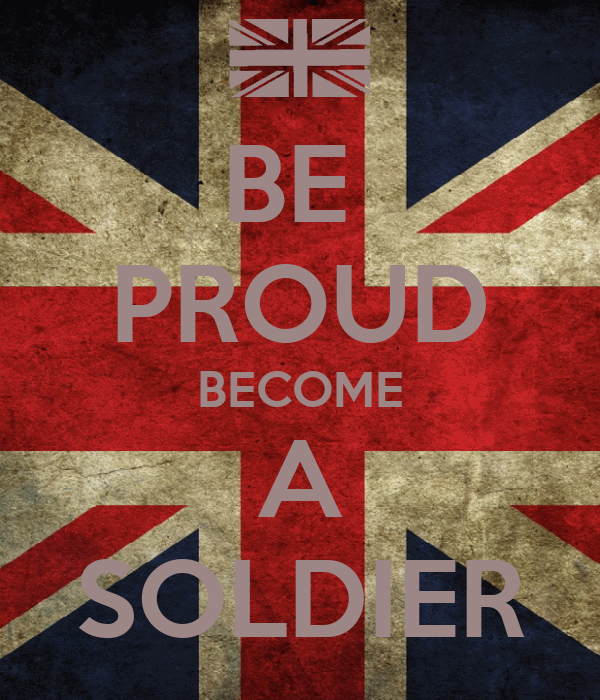 BE  PROUD BECOME A SOLDIER