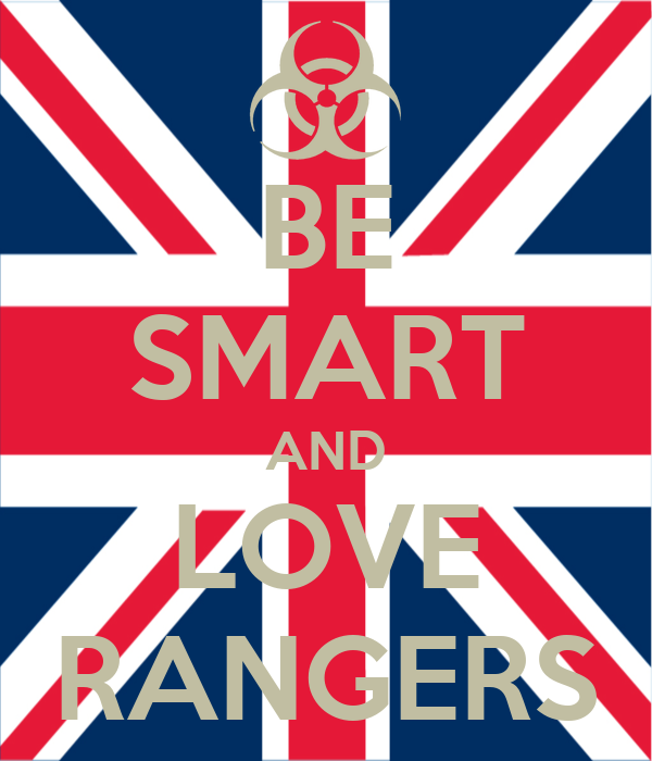 BE SMART AND LOVE RANGERS