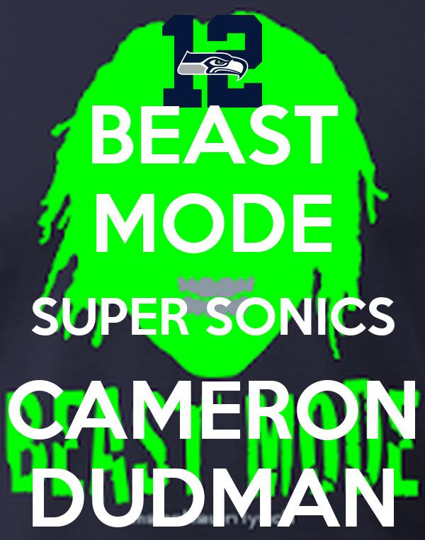 BEAST MODE SUPER SONICS CAMERON DUDMAN
