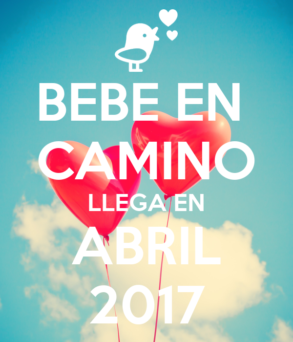 Bebe en camino llega en abril 2017 poster gaby keep - Bebe en camino ...