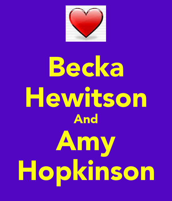 Becka Hewitson And Amy Hopkinson