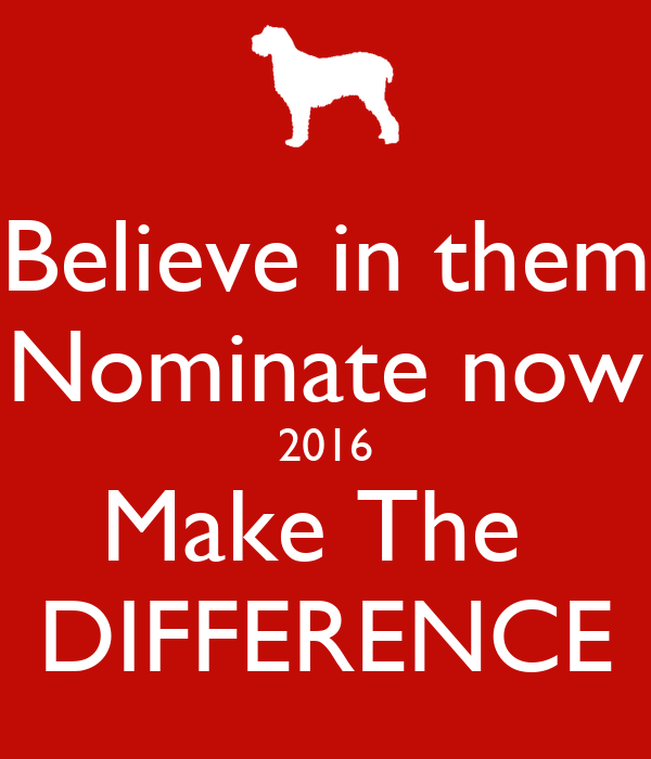 Believe in them Nominate now 2016 Make The  DIFFERENCE