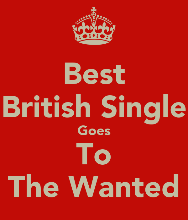 Best British Single Goes To The Wanted