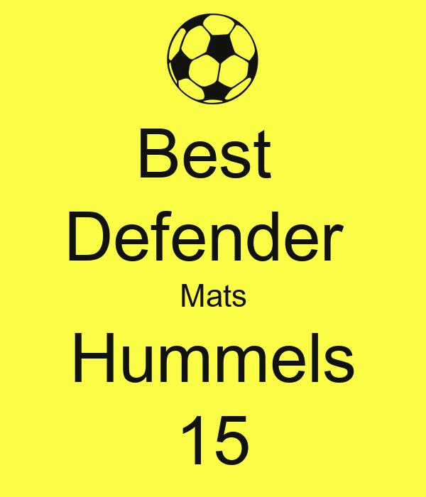 Best  Defender  Mats Hummels 15