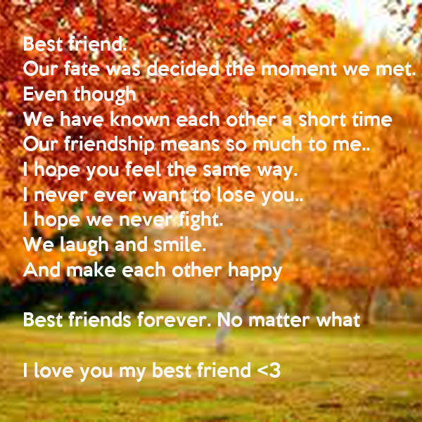 Best friend.