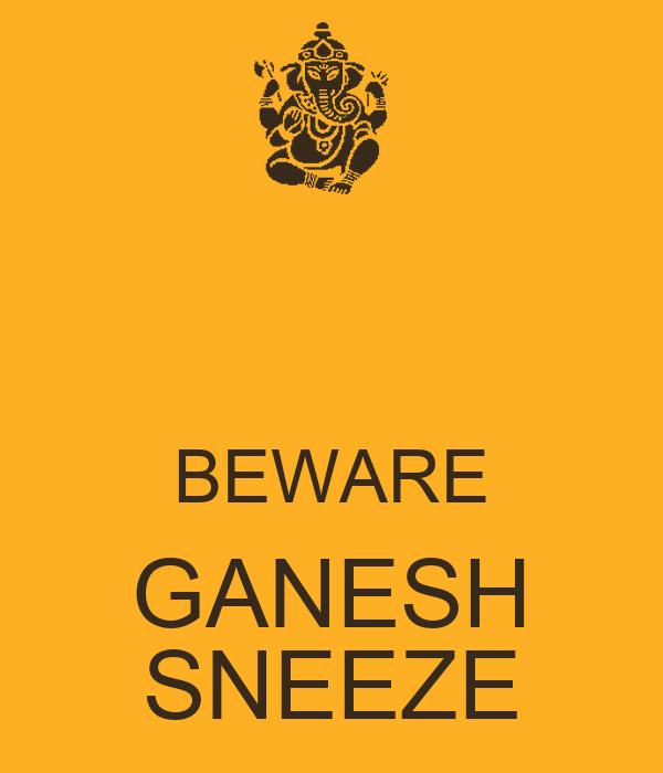 BEWARE GANESH SNEEZE