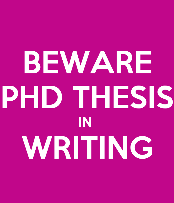 Write phd thesis in 3 months