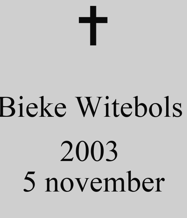 Bieke Witebols   2003  5 november