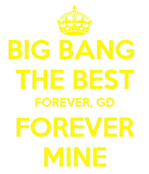 BIG BANG  THE BEST FOREVER, GD FOREVER MINE