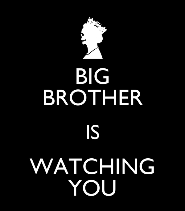 BIG BROTHER IS WATCHING YOU Poster   TONY   Keep Calm o M
