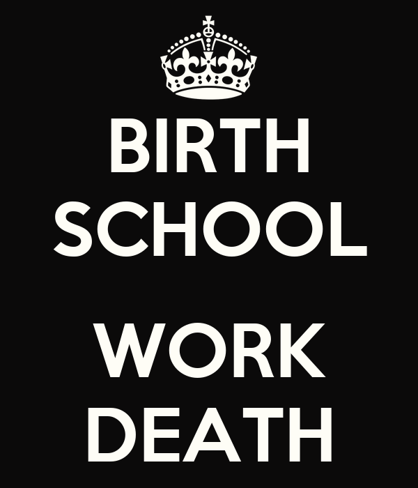 BIRTH SCHOOL  WORK DEATH