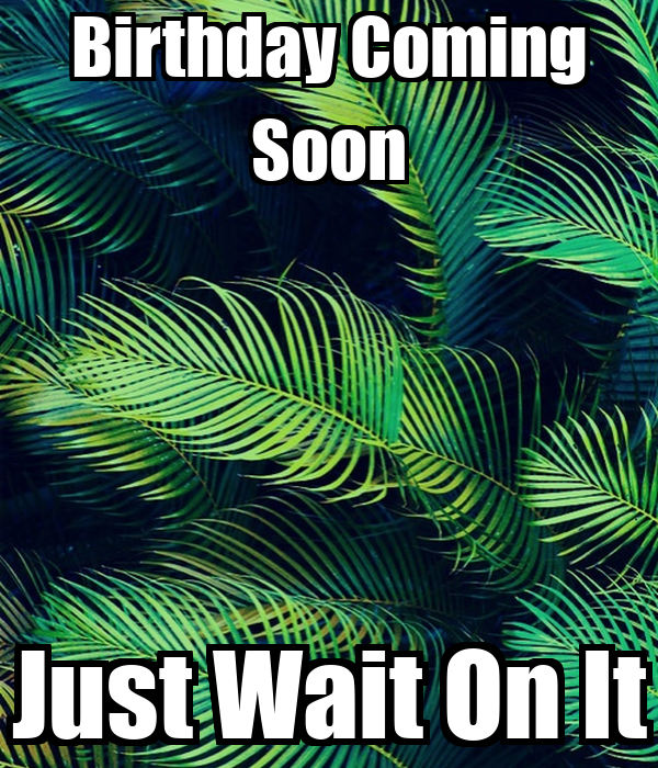 Birthday Coming Soon Just Wait On It