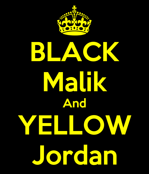 BLACK Malik And YELLOW Jordan