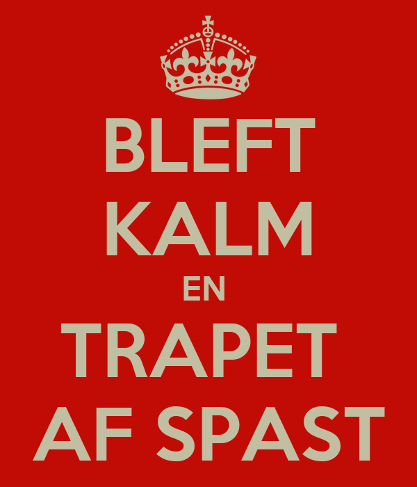 BLEFT KALM EN  TRAPET  AF SPAST