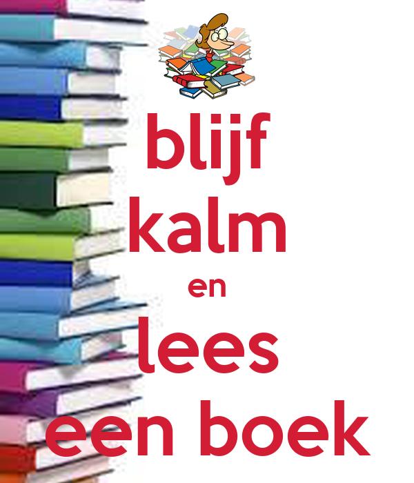 blijf kalm en lees een boek