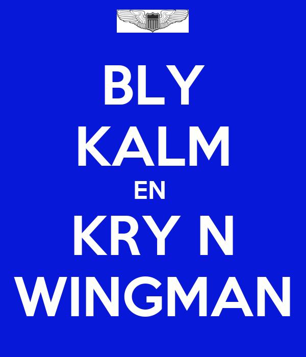 BLY KALM EN  KRY N WINGMAN