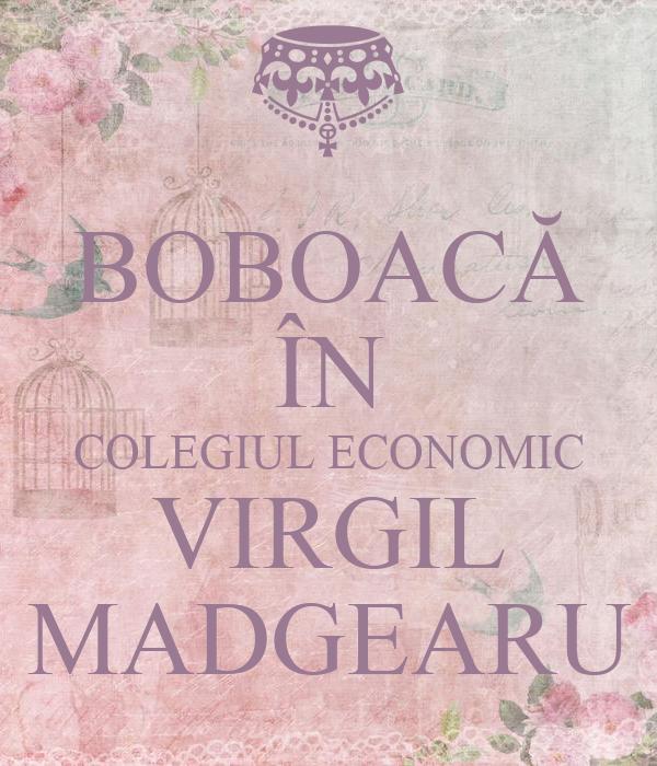 BOBOACĂ ÎN COLEGIUL ECONOMIC VIRGIL MADGEARU