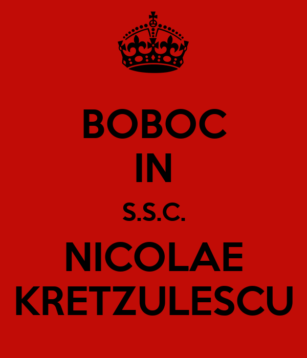 BOBOC  IN S.S.C. NICOLAE KRETZULESCU