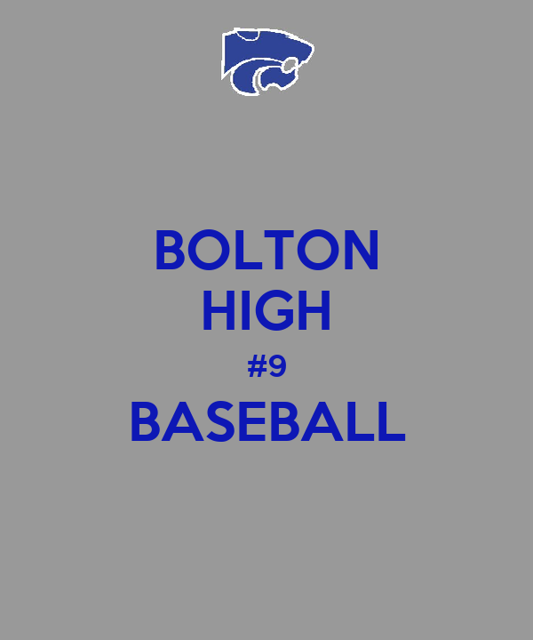 BOLTON HIGH #9 BASEBALL