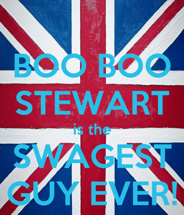 BOO BOO STEWART is the SWAGEST GUY EVER!