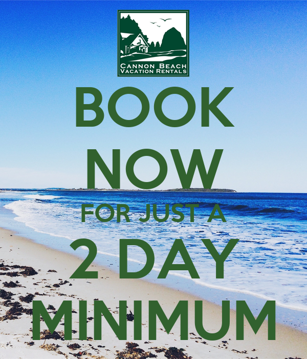BOOK NOW FOR JUST A 2 DAY MINIMUM