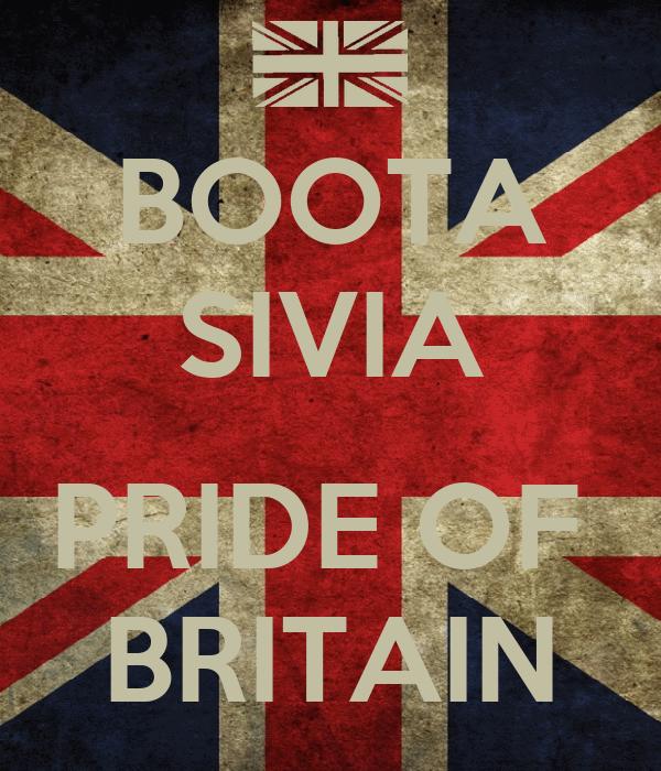 BOOTA SIVIA  PRIDE OF  BRITAIN
