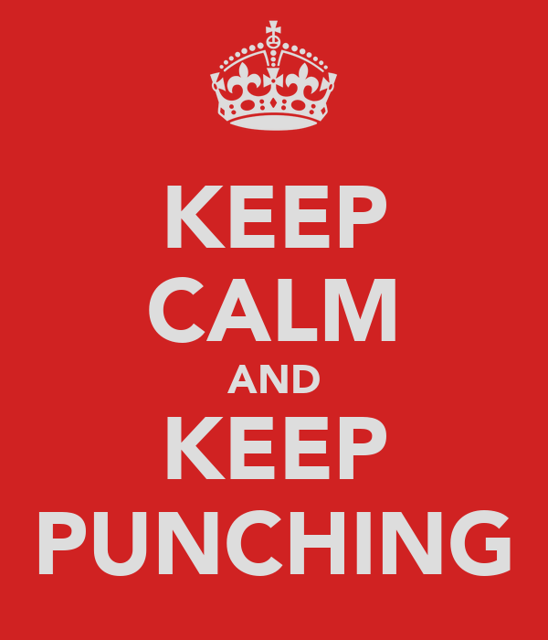 KEEP CALM AND KEEP PUNCHING