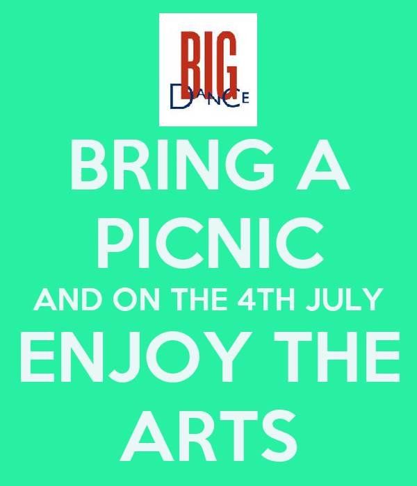 BRING A PICNIC AND ON THE 4TH JULY ENJOY THE ARTS