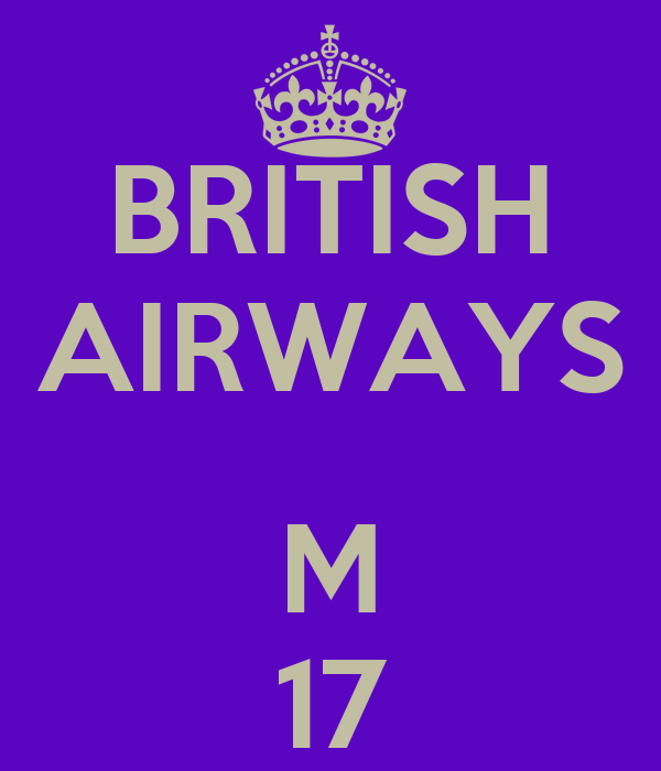 BRITISH AIRWAYS  M 17