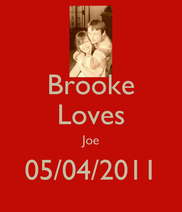 Brooke Loves Joe 05/04/2011