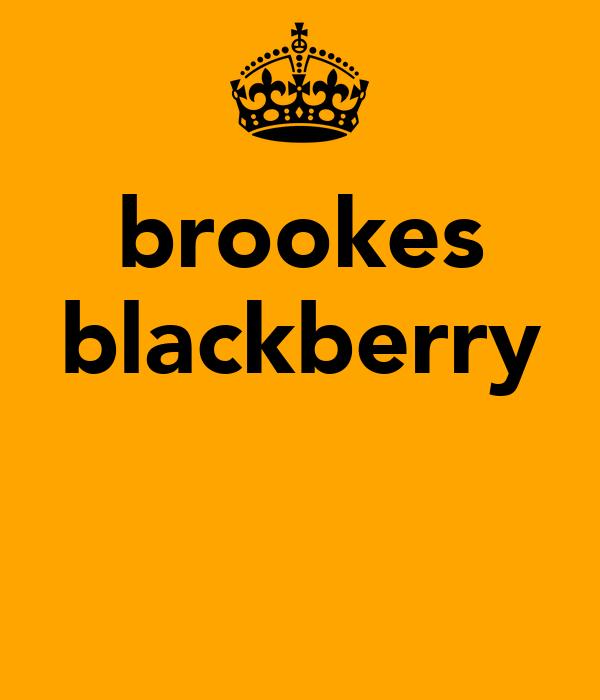 brookes blackberry