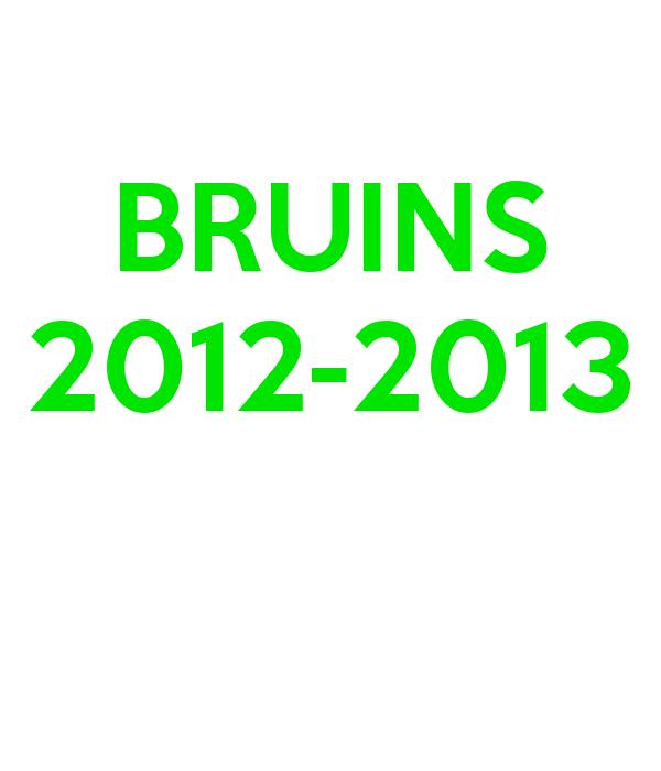 BRUINS 2012-2013