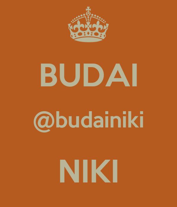 BUDAI @budainiki NIKI
