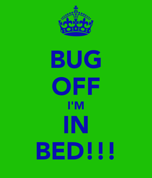 BUG OFF I'M IN BED!!!