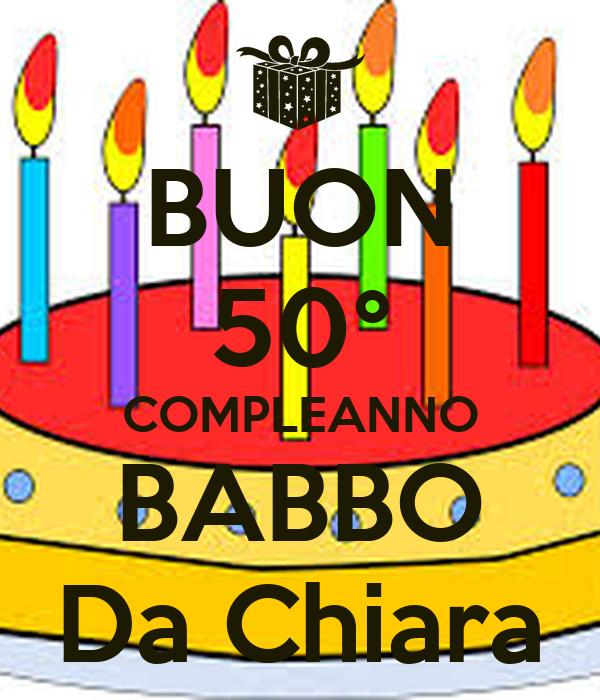 Buon 50 Compleanno Babbo Da Chiara Poster Aldofuzzi Keep Calm O