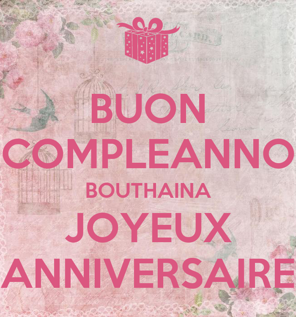 Buon Compleanno Bouthaina Joyeux Anniversaire Poster Yasmine
