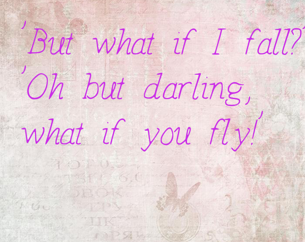 'But what if I fall?'