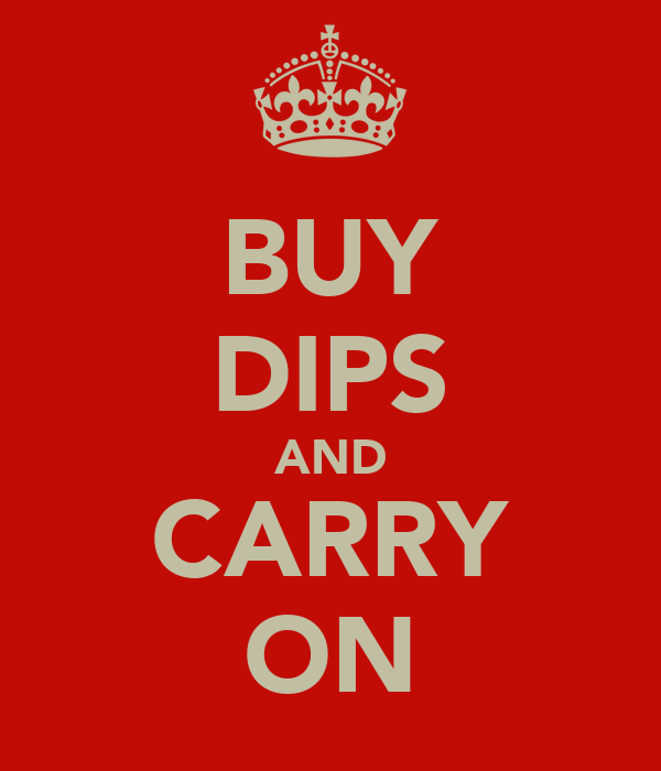 BUY DIPS AND CARRY ON