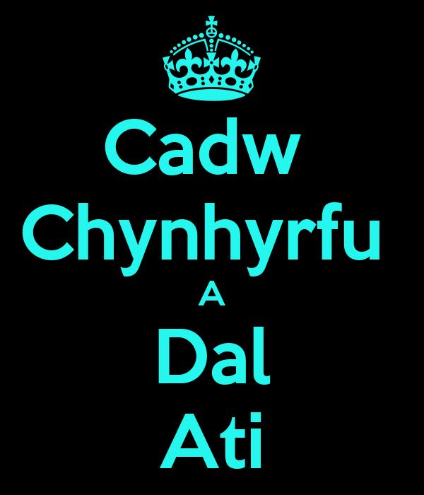 Cadw  Chynhyrfu  A Dal Ati