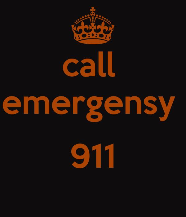 call  emergensy   911