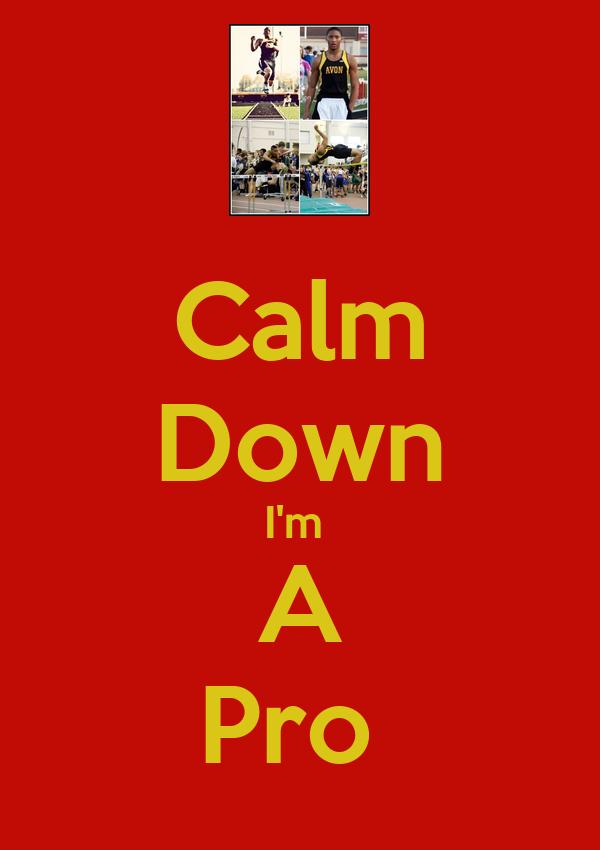 Calm Down I'm  A Pro