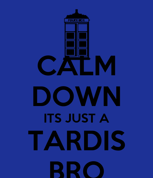 CALM DOWN ITS JUST A TARDIS BRO