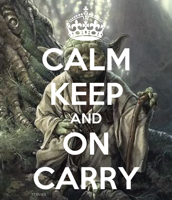 CALM KEEP AND ON CARRY